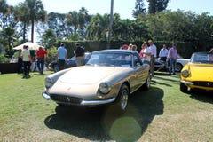Coches de deportes clásicos de Ferrari alineados Fotografía de archivo libre de regalías