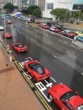 Coches de Ferrari en Hong Kong Imagen de archivo