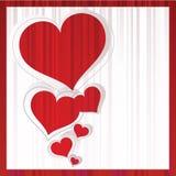 Coches de Greting con los corazones rojos Foto de archivo