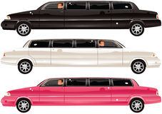 Coches de la limusina Ilustración del Vector