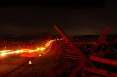 Coches de la noche Fotografía de archivo libre de regalías
