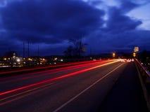 Coches de la noche Imagen de archivo libre de regalías