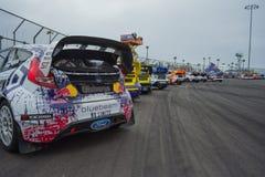 Coches de la reunión en Red Bull GRC Rallycross global Fotografía de archivo