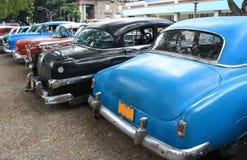 Coches de la vendimia en La Habana, Cuba Fotos de archivo libres de regalías
