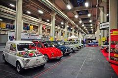 Coches de la vendimia Fiat500 Foto de archivo libre de regalías