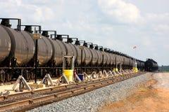 Coches de los petroleros de los ferrocarriles Imagen de archivo