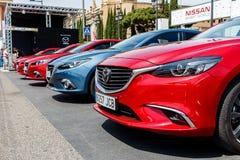 Coches de Mazda Imágenes de archivo libres de regalías