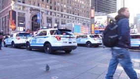 Coches de NYPD almacen de video