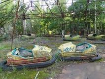 Coches de parachoques Foto de archivo libre de regalías