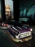 Coches de parachoques abandonados Foto de archivo libre de regalías