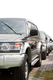 Coches de SUV Imágenes de archivo libres de regalías