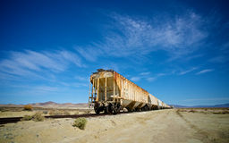 Coches de tren abandonados Fotografía de archivo libre de regalías