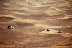 Coches en Dubai Fotos de archivo libres de regalías
