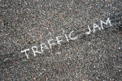 Coches en el asfalto Foto de archivo libre de regalías