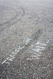 Coches en el asfalto Fotografía de archivo libre de regalías