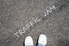 Coches en el asfalto Imagen de archivo libre de regalías