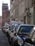Coches en la calle Foto de archivo libre de regalías