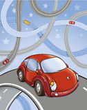 Coches en los caminos Libre Illustration