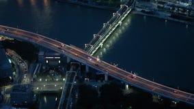 Coches en una autopista japonesa almacen de video