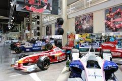 Coches F1 en el museo de Simsheim Imagen de archivo