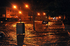 Coches inundados, causados por Hurricane Sandy imagen de archivo libre de regalías
