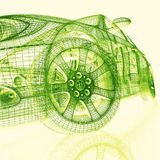 coches modelo 3d Foto de archivo libre de regalías