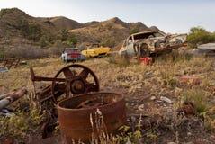 Coches oxidados abandonados Imagen de archivo