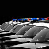 Coches policía Fotografía de archivo libre de regalías