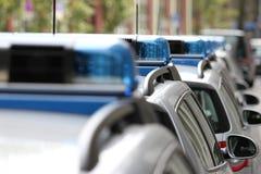 Coches policía alemanes 3 Fotografía de archivo libre de regalías