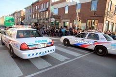 Coches policía de Toronto foto de archivo libre de regalías
