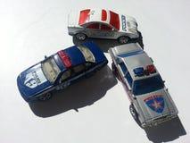 Coches policía del juguete Foto de archivo libre de regalías