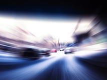 Coches rápidos en la carretera Fotos de archivo libres de regalías