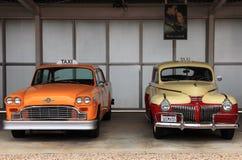 Coches retros del taxi Fotografía de archivo