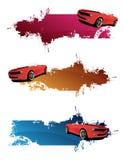 Coches rojos stock de ilustración