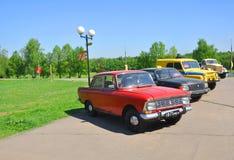 Coches soviéticos en la Museo-reserva Gorki Leninskie Región de Moscú, Rusia foto de archivo libre de regalías
