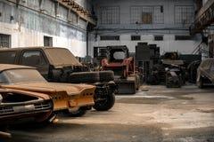Coches viejos abandonados Foto de archivo libre de regalías