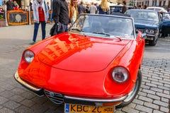 Coches viejos clásicos en la reunión de los coches del vintage en Kraków, Polonia Foto de archivo libre de regalías