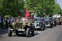 Coches viejos en el desfile Foto de archivo