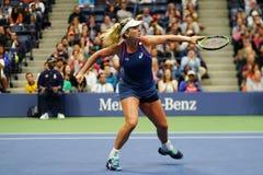 Cochi 2018 del campione dei doppi delle donne di US Open Vandeweghe degli Stati Uniti nell'azione durante la sua partita finale immagine stock