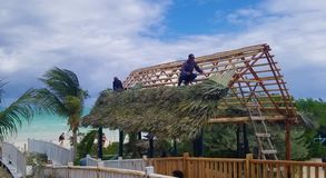 Cochi di Cayo, Cuba - viste di oceano sbalorditive - cappello della costruzione immagini stock libere da diritti