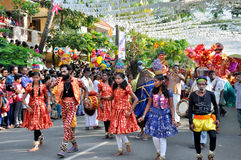Cochin Carnival 2015. The Cochin Carnival is Fort Cochin's biggest bash, a 10-day festival culminating on New Year's Eve. Street parades, colourful costumes royalty free stock photography