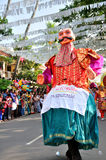 Cochin Carnival 2015. The Cochin Carnival is Fort Cochin's biggest bash, a 10-day festival culminating on New Year's Eve. Street parades, colourful costumes stock photo