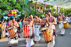 Cochin Carnival 2015. The Cochin Carnival is Fort Cochin's biggest bash, a 10-day festival culminating on New Year's Eve. Street parades, colourful costumes stock photography