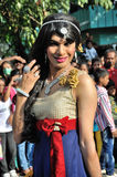 Cochin Carnival 2015. The Cochin Carnival is Fort Cochin's biggest bash, a 10-day festival culminating on New Year's Eve. Street parades, colourful costumes royalty free stock image