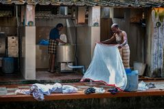 Washing and laundry services royalty free stock image