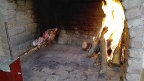 Cochinillo sardo en cocinar fotografía de archivo libre de regalías