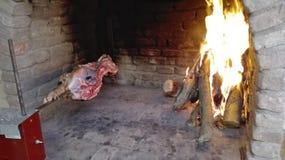 Cochinillo sardo en cocinar imágenes de archivo libres de regalías