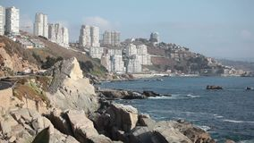 Cochoa Bay. Vina del Mar. Chile stock video footage