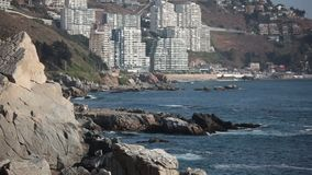Cochoa Bay. Vina del Mar. Chile stock video