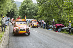 Cochonou Caravan in Vosges Mountains Royalty Free Stock Images